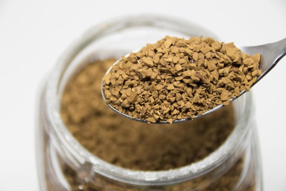 インスタントコーヒーの粉の画像