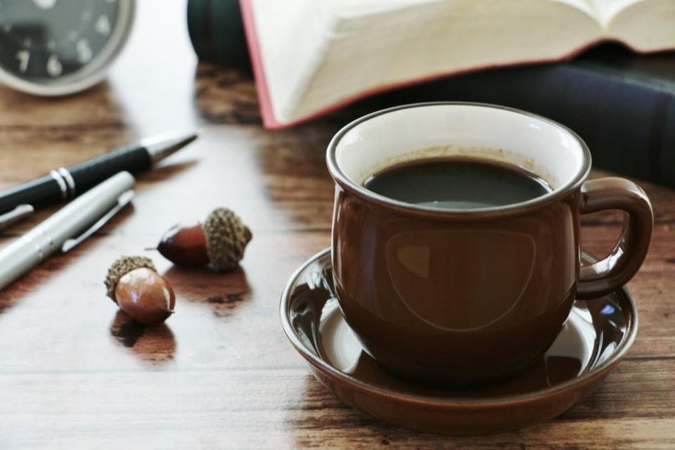 コーヒーと文房具