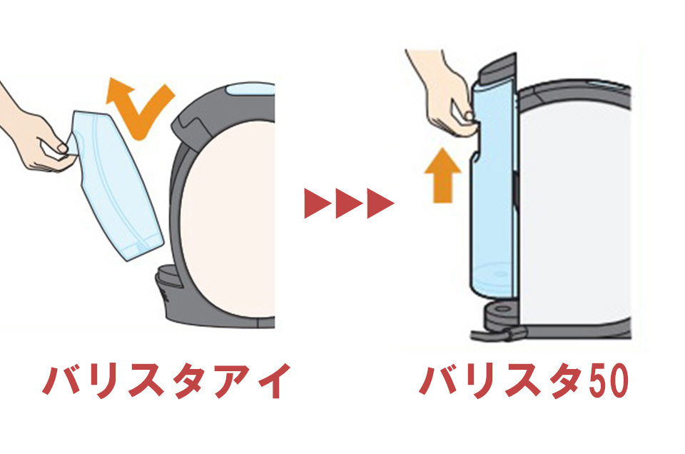 バリスタ給水タンク比較