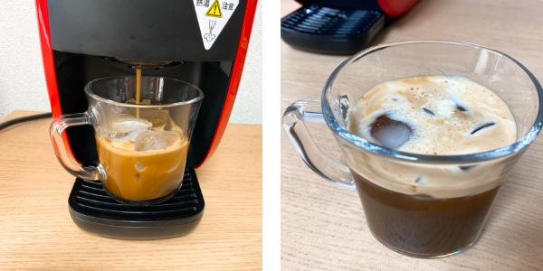 バリスタでアイスコーヒーを淹れる