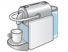 ピクシークリップ本体にカップを置いているところ