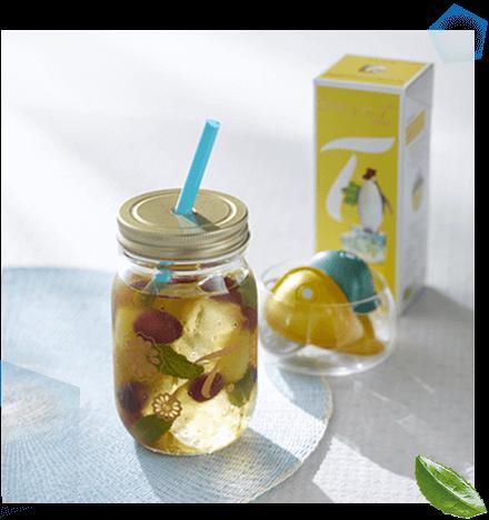スペシャルTのアイスアレンジレシピ:グレープミントティー