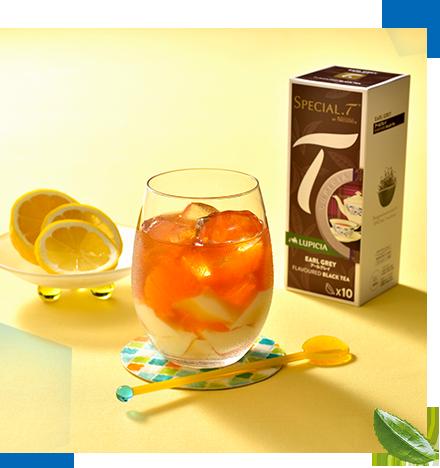 スペシャルTのアイスアレンジレシピ:杏仁たっぷりアイスアールグレイ