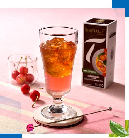 スペシャルTのアイスアレンジレシピ:ひんやりさくらんぼのピンクジュレティー