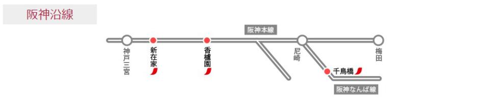 ネスカフェスタンド阪神沿線