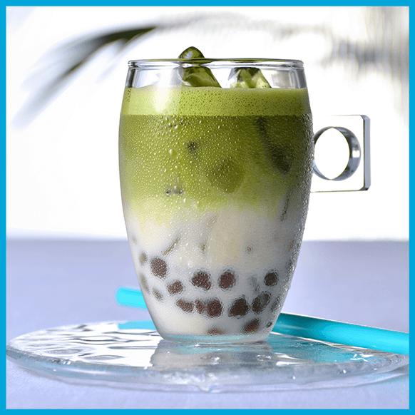 宇治抹茶&タピオカココナッツミルク_ドルチェグストアイスアレンジレシピ
