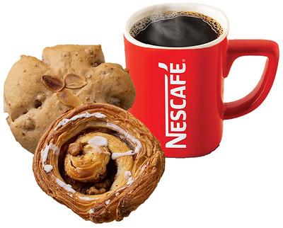ネスレのコーヒーとパン