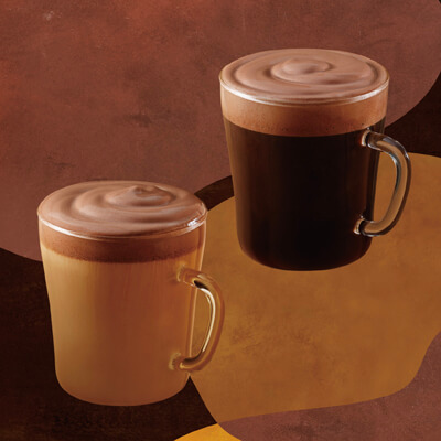 チョコレートムースwithドリップコーヒー&ラテ