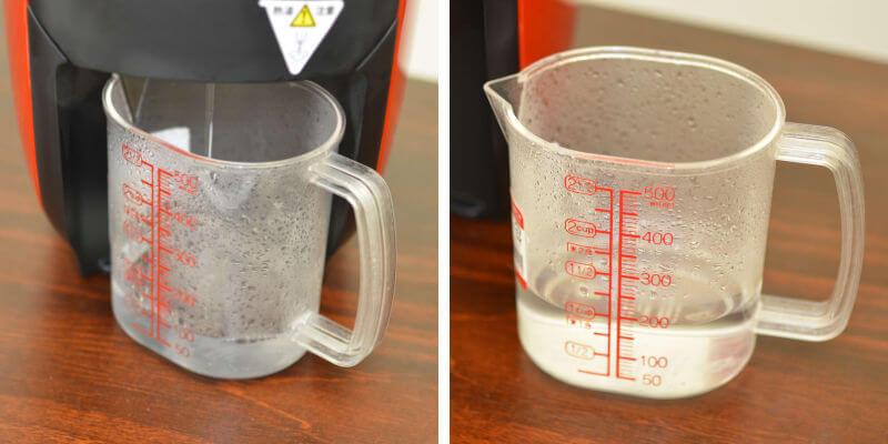 ネスカフェバリスタの使い方:お湯が抽出されたところ