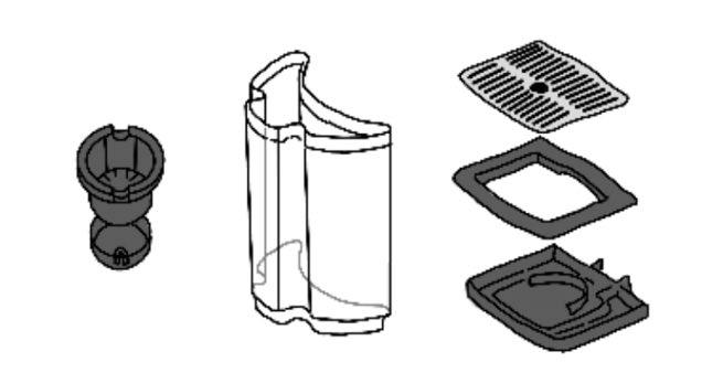 キューリグ/すすげる部品/kカップ/水タンク/水タンクのふた/ドリップホルダー